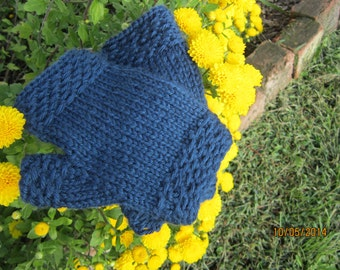Navy Handwarmers Wristwarmers ~ Super Soft Gift for HER!