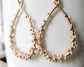 Bubble Teardrop Earrings, Rose Gold, Modern Earrings, Statement Earrings, Redpeonycreations