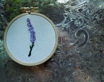 Lavender 3 Inch Embroidery