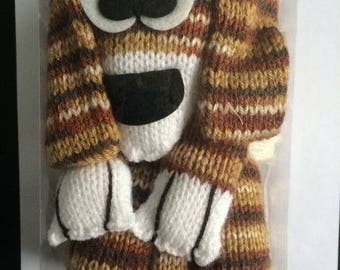 Kit scarf Dog scarf Katia Brown/Brown