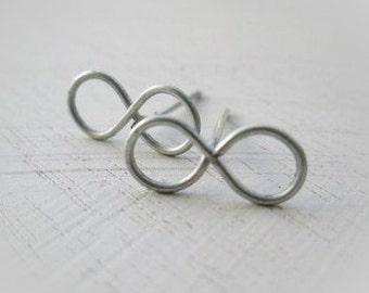 Tiny Infinity Stud Earrings - Delicate Stud Earrings