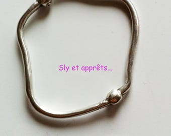 Silver plated brass 50mm spacer