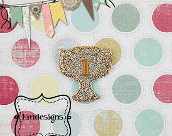 Champion Trophy  Digital ITH  Feltie Embroidery Design File