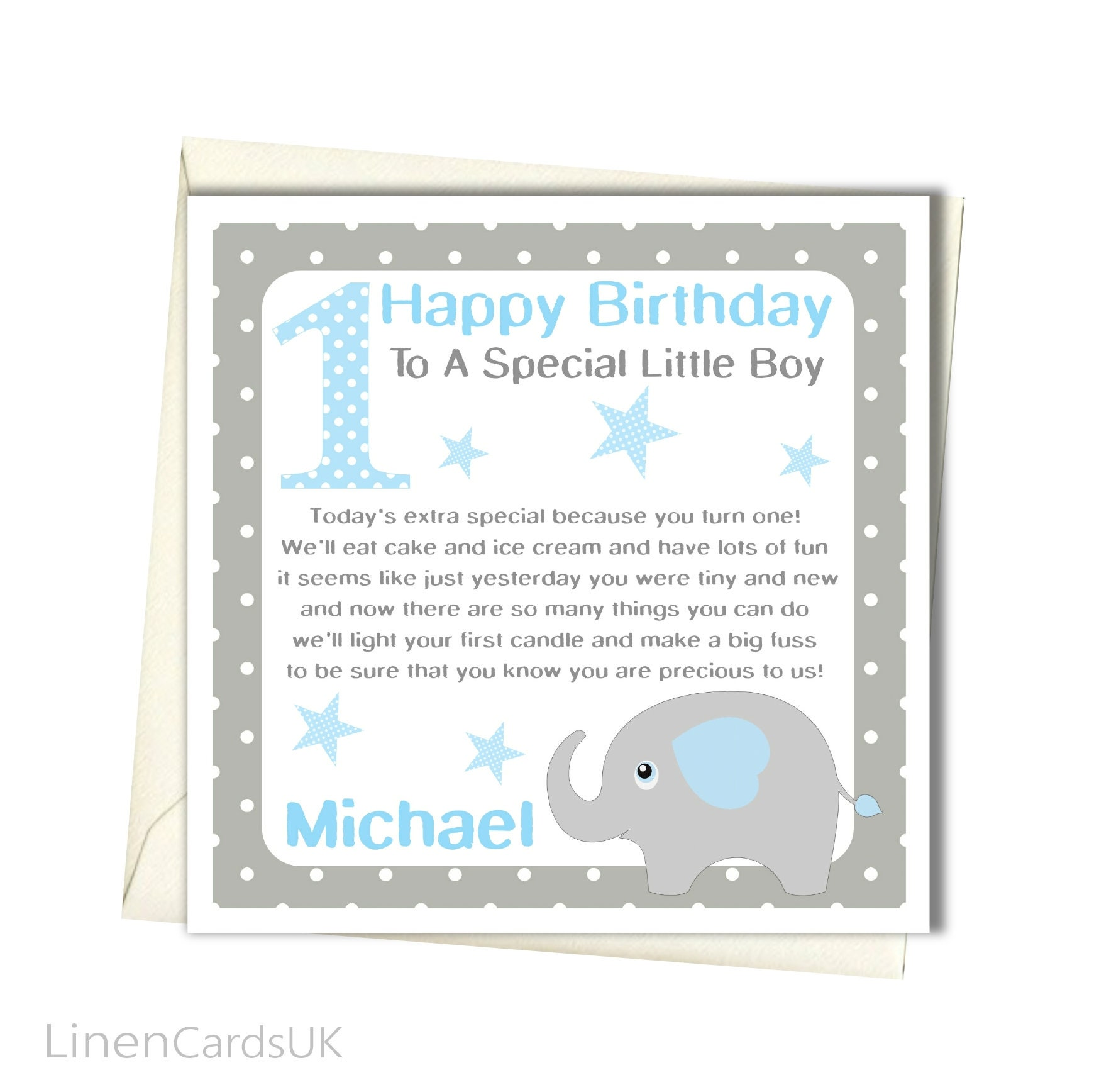 Personalised boys 1st birthday card first birthday card for zoom bookmarktalkfo Images