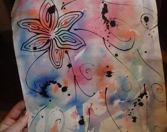Watercolor Flower Explosive Colors