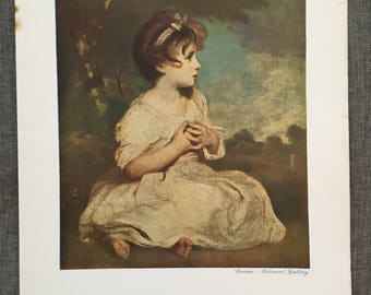 Reynolds. The age of Innocence. Colour plate. 1920's antique print