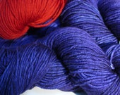 Merino Wool Yarn Purple y...