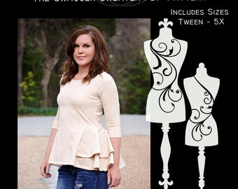 The Swagger Sweater (Women's Sizes) PDF Sewing Pattern