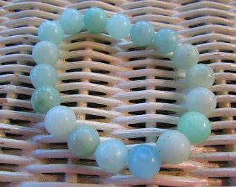 325  Womens amazonite 10mm handmade beaded beach ocean bracelet