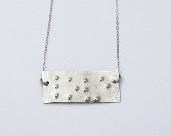 Braille love wish dream hope custom sterling silver necklace