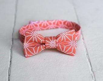 Boys Coral Bow Tie - Boys Salmon Bow Tie, Coral Baby Bow Tie, Coral Toddler Bow Tie, Coral Boys Bowtie, Salmon Little Boys Bow Tie