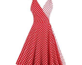Women summer vintage dress 50's style