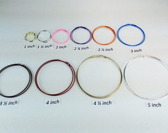 Hoop Earrings Buy 2 pair Get 2 Pair Free  of equal or lesser value. Mix or Match Size or Color