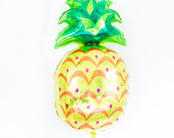 Pineapple Balloon - Jumbo fruit foil balloon tropical party