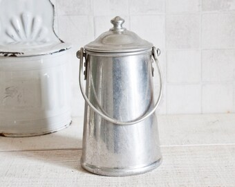 Lovely Aluminum Milk Jug || Vintage French Decor - Home Decor - Country style - Farmhouse