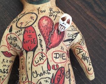 Sweet Revenge Valentine Day Gift to Yourself Broken Heart Unrequited Love or Recent Break Up Voodoo Doll Spell or Witch Hex Spiteful JuJu