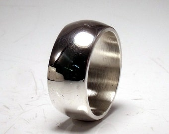 11mm Sterling Silver Low Dome Band RF401