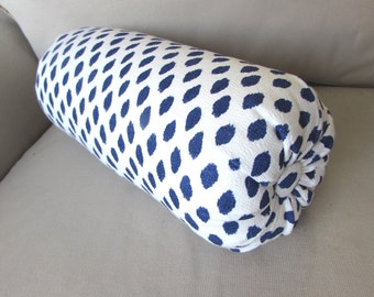 SAHARA INDIGO blue bolster pillow 6x14 6x16 6x18 6x20 6x22