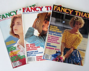 FANCY THAT Crochet & Knitting Today 3 Back Issues 1986