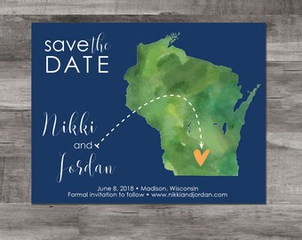 Wisconsin – Save the Date – Destination Wedding – Wedding Save the Dates