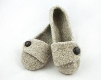 Barley Womens Felted Wool Slippers