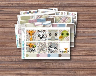 In the Wild Weekly Kit | Summer Planner Stickers | ECLP | Happy Planner | Recollections Planner | Weekly Planner Stickers