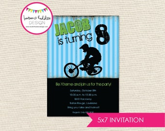 BMX Bike Birthday, BMX Bike Birthday Invitation, Bmx Bike Printables, BMX Bike Birthday Decorations, Lauren Haddox Designs