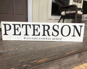 Family Name Signs, Fixer Upper Inspired Signs,Rustic Wood Signs, Farmhouse Signs, Wall Décor, 40x9.25