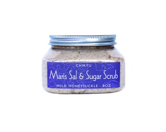 Organic Body Scrub, Vegan Body Scrub, Salt Body Scrub, Sugar Body Scrub,  Maris Sal & Sugar Scrub  (Choose your Scent)   8oz