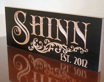 Personalized Last Name Wood Sign, Lake House Sign, Custom Wood Signs, Kitchen Sign, Benchmark Signs, Benchmark Custom Signs, Maple SN
