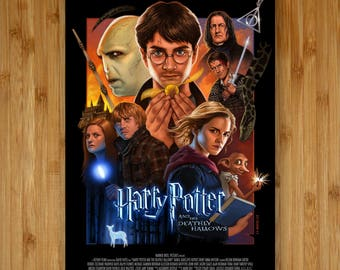 Harry Potter and The Deathly Hallows - 12x18 Movie Poster