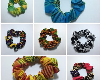 All scrunchies ethnic colors earrings