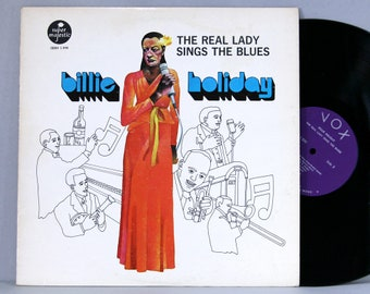 Billie Holiday - The Real Lady Sings The Blues - Vintage Vinyl Record Album 1973 Vox Super Majestic SBBH 1.590
