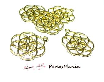 Locket charm pendants flower of life color Golden S1177169