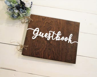Wood guestbook, wooden guest book, wedding guest book alternative, custom guest book, personalized wood guestbook, wood wedding advice book