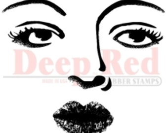 Deep Red Cling Rubber Stamp Rubber Stamp Betty Davis Eyes