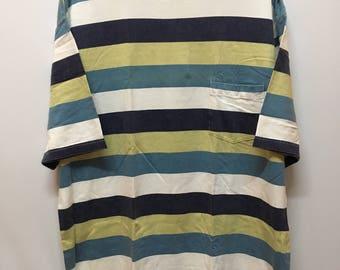 Vintage 90s Quicksilver Japan Striped Pocket Tee Tops Tshirt