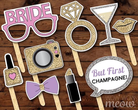 50 Photo Booth Props Printable Bridal Shower Bachelorette