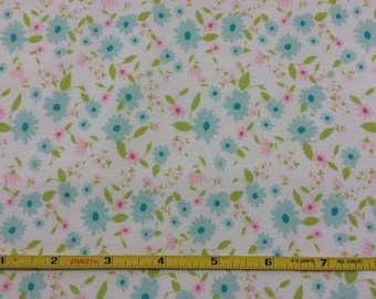 NEW Art Gallery Petite Potpourri Azur on cotton Lycra  knit fabric 1 yard.