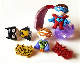 Tube Trinkets:  Boy Super Hero Inspired Collection!  Please select quantity 2 for a pair!