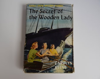 1950 #27 The Secret of the Wooden Lady by Carolyn Keene / Hardcover with Dust Jacket / Nancy Drew Mystery Stories