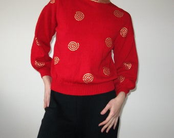 ST.JOHN Separates Knitted Red Sweater