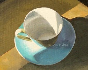Morning cup - fine art pigment print of an original painting by Olive Dear, on quality heavy weight edition paper