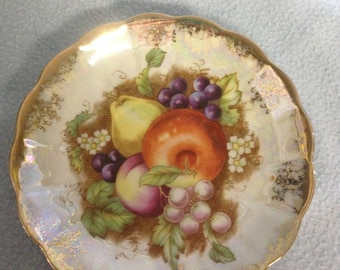 Vintage hand painted porcelain plate