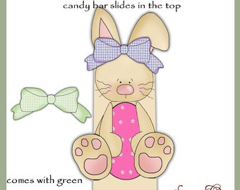Girl Bunny Candy Bar Slider for Easter - Digital Printable - Immediate Download