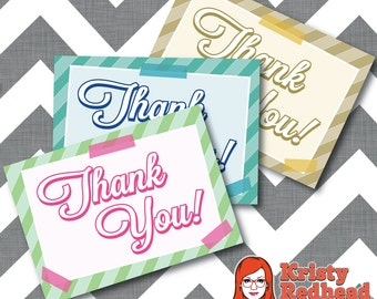 Printable Bridal Shower Thank You Cards