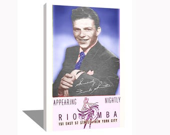 Frank Sinatra 1943 100% Cotton Canvas Print Using UV Archival Inks Stretched & Mounted