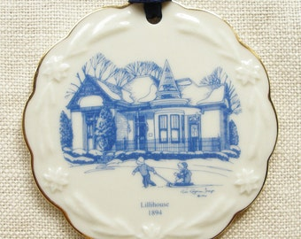 Franklin TN, Christmas Ornament, Lillihouse, in Porcelain with 22K Gold Trim, Raymon Troup