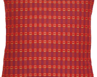 Red Squares Cushion Cover Quality Woven Checks Fabric Marvic Throw Pillow Case