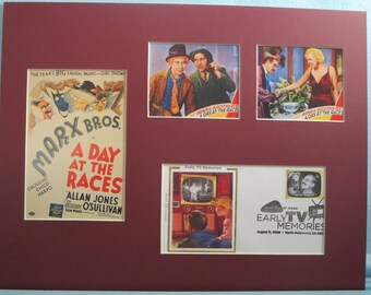 "The Marx Brothers in ""A Day at the Races"" and the First Day Cover of the Groucho Marx stamp"